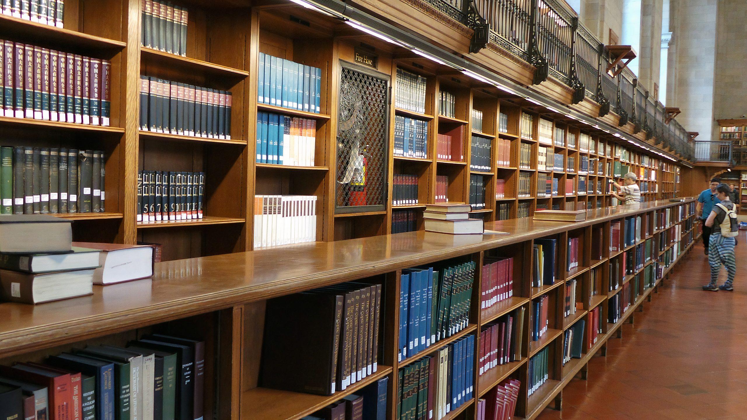 библиотека в США, много английских книг